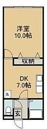 神奈川県横須賀市衣笠栄町2丁目の賃貸マンションの間取り