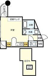 福岡県北九州市小倉北区今町3丁目の賃貸マンションの間取り