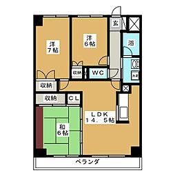 二日町島田ビル[4階]の間取り
