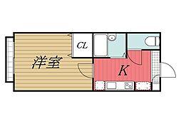 千葉県千葉市中央区院内2丁目の賃貸アパートの間取り
