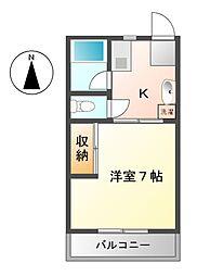 メゾン井沢パートI[2階]の間取り
