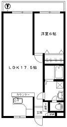 レジデンス青木[2階]の間取り