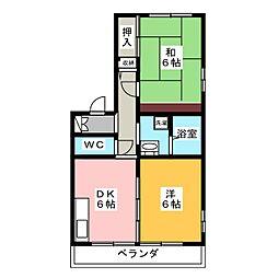 サイレントガーデン[2階]の間取り