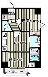 アリスマナーガーデン四天王寺[8階]の間取り