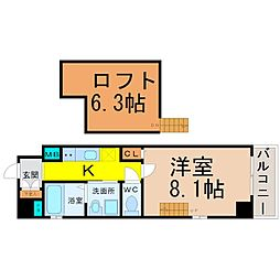 Gstyle栄東[3階]の間取り