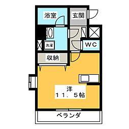 サンライズ栄[2階]の間取り