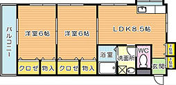 日生プリンスマンション[3階]の間取り