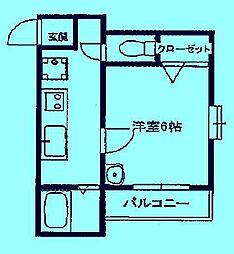 コナ山重[2階]の間取り