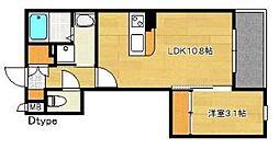 福岡市地下鉄空港線 博多駅 徒歩15分の賃貸マンション 5階1LDKの間取り