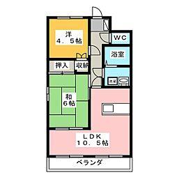 ピエタテール三軒屋[1階]の間取り