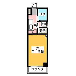 エクセル弁天[4階]の間取り