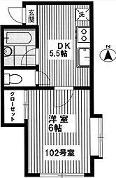 フィオーレ外苑[1階]の間取り