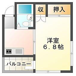 コーポいづみ[2階]の間取り