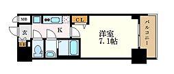 名古屋市営桜通線 車道駅 徒歩6分の賃貸マンション 14階1Kの間取り