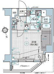東京メトロ東西線 早稲田駅 徒歩13分の賃貸マンション 4階1Kの間取り