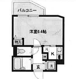東京都新宿区中落合4丁目の賃貸マンションの間取り