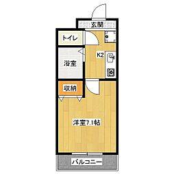 カーサ椥辻[6階]の間取り