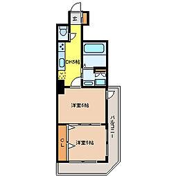 シャングリラ花京院[12階]の間取り