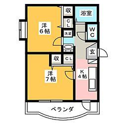 第6北村ビル[1階]の間取り