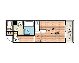 ビクトリア茨木[5階]の間取り