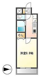 パルティール覚王山[6階]の間取り