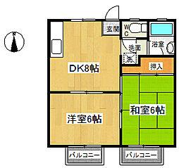 コーポ由松[202号室号室]の間取り