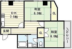 七福興産ビル[3階]の間取り