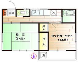 松峰荘[2階]の間取り