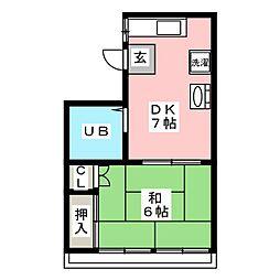 藤田ビル[3階]の間取り
