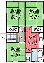 [一戸建] 千葉県千葉市若葉区小倉町 の賃貸【/】の間取り