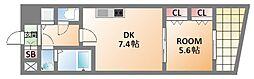 Due-大阪日本橋[10階]の間取り