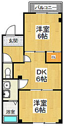 KHSBLD.横堤[3階号室]の間取り
