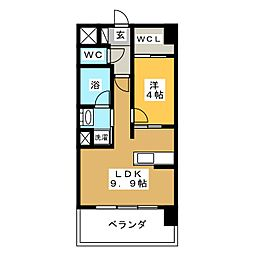 プレミア ステーション 西口[8階]の間取り