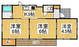 [一戸建] 埼玉県所沢市東狭山ケ丘4丁目 の賃貸【/】の間取り