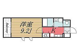 千葉県成田市公津の杜2丁目の賃貸マンションの間取り