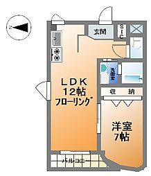 ジョエロ堀江[3階]の間取り