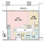 ホテルライクな内廊下設計、36階建て8階部分