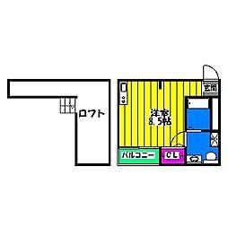 タスク麦野[2階]の間取り