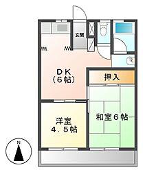 コーポ猪子石[3階]の間取り