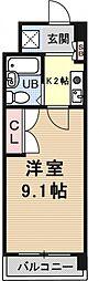 サンクリエートハヤシ壹號舘[1301号室号室]の間取り