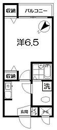 ソワ東中野[102号室]の間取り