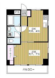 東京都板橋区徳丸3丁目の賃貸マンションの間取り