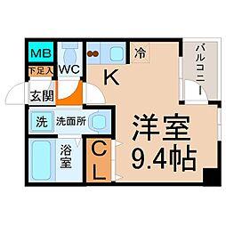 カーサK.R.C[3階]の間取り