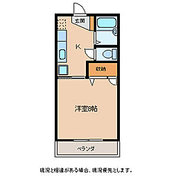 シンフォニー飯沼[1階]の間取り