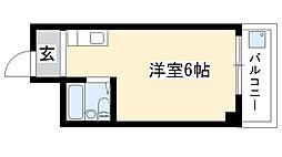 愛知県名古屋市瑞穂区内浜町の賃貸マンションの間取り