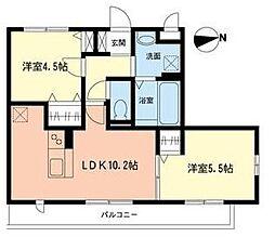 コンフォートガーデン[2階]の間取り