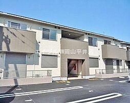 岡山県岡山市東区西大寺中野丁目なしの賃貸アパートの外観