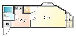 ハッピーNY[3階]の間取り