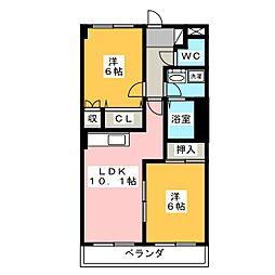 ベルグランデ高柳[5階]の間取り