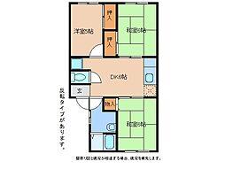 静岡県御殿場市茱萸沢の賃貸アパートの間取り